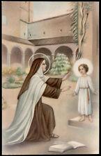 antica cartolina S.TERESA DI GESU' BAMBINO 9