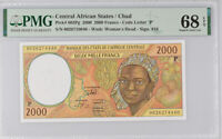 Central African States Chad 2000 FR CHAD P 603Pg Superb Gem UNC PMG 68 EPQ Top