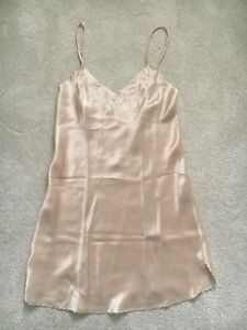 Victoria Secret Designer Collection Womens Slip - 100% Silk - Medium - Blush