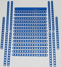 Lego Lot of 25 New Blue Technic Liftarms 1 x 15 Thick Beams with Holes Pieces