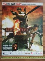 RESIDENT EVIL 5 Video Game Store Display Sign 22x28 Capcom 2009 PS3 XBox 360