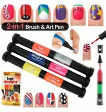 Hot Designs Nail Polish Varnish Art Pen and Brush Drawing Tool Gel Nail Art Pen