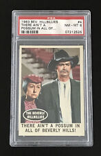 1963 Topps Beverly Hillbillies Psa 8 Nm/Mt #4 There ain't a possum in all of