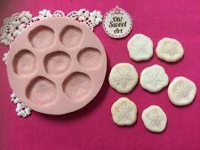 Sand Dollar set  silicone mold fondant cake decorating sea food soap cupcake FDA
