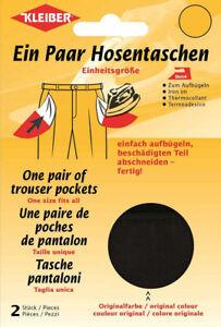 Kleiber Hosentaschen ein Paar zum Aufbügeln Einheitsgröße 5 Farben