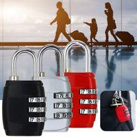 3 Digit Combination Padlock Black Number Luggage Travel Accessories Code Lock y