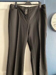 Ladies New La Vie Black Trousers Size 20 L30