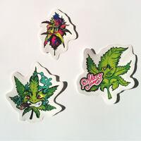 Marijuana Sticker Set Decal Pack Vinyl Weed Cannabis Leaf Pot Car 420 Bong Funny