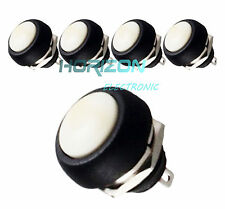 20Pcs 12mm Waterproof Momentary On/Off Push Button Mini Round Switch White new