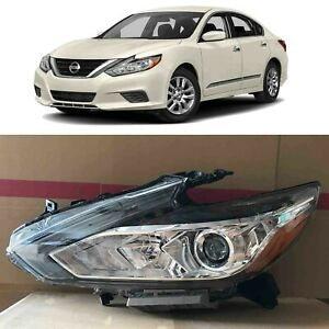 Headlight Replacement for 2016 2018 Nissan Altima Halogen w/o LED Left Chrome