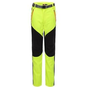 Mens Womens Fleece Waterproof Ski Pants Padded Outdoor Hiking Windproof Trousers