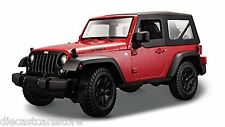 MAISTO 2014 JEEP WRANGLER WILLYS RED 1/18 DIECAST NEW IN BOX 31676RD