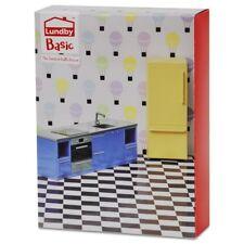 Lundby Basic Smaland 60.3055 Küchen Set - Herd Kühlschrank Puppenhaus 1:18