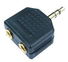 Jack 3.5 mm prise casque câble audio splitter AUX iPod iPhone MP3 à 2 écouteurs