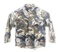 VTG Woolrich Chamois Custom Print Long Sleeve Field Shirt | Men's Sz XL USA