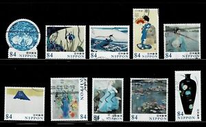 Japan 2020 World of Art Series #1 84Y Complete Used Set Sc# 4383 a-j
