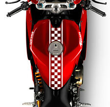 "(2x) 24"" Motorcycle Checkered Racing Decals Stickers Cafe Racer (Choose Color)"