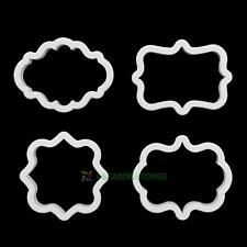 4pcs Plastic Pastry Cookie Biscuit Cutter Cake Decorating Mold Tool