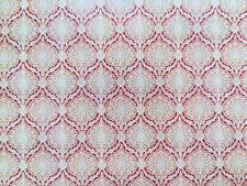 Dollhouse Miniature Wallpaper World Model Red & Beige 1:12 Scale Flower Bursts