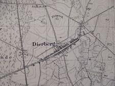Landkarte Messtischblatt 2943 Dierberg, Krs. Ruppin, Rheinsberg, Zechow, 1945