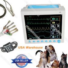 Veterinary Patient Monitor Vital Signs Vet Monitor,SPO2,PR,ECG,NIBP,RESP,TEMP US
