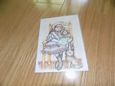 VTG HAPPY BIRTHDAY Greeting Card Little Girl Current M K HOWE NEW