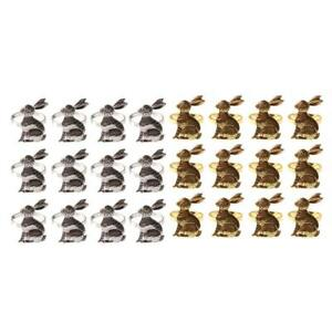 12PCS  Easter Rabbit Napkin Ring Holder Metal Napkin Holder Table