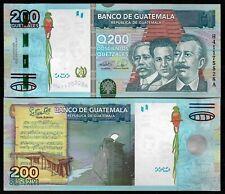 GUATEMALA - P 120 -  200 QUETZALES - GEM UNC - 2009 - MUSICAL NOTES - BIRD