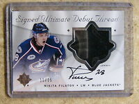08-09 UD Ultimate Debut Threads Rookie RC Jersey Auto NIKITA FILATOV /35