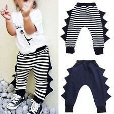 Baby Kids Boys Girls Harem Pants Dinosaur Trousers Toddler Bottoms Sweatpant EW
