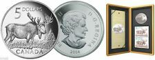 2004 Moose Sterling Silver $5 Coin and Stamp Set - SALE