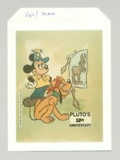Disney, Pluto 1v Oversized Photo Proof No Country or Denomination