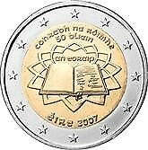 €2 Euro Commemorative Coin Eire/Ireland Treaty Of Rome