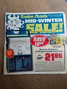 Radio Shack Midwinter sales circular 1976 looking for CB and Ham radios/Stereos