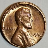 1968 - MISALIGNED DIE ( MAD ) - TRAIL DIE DATE - LINCOLN CENT MINT ERROR #8194