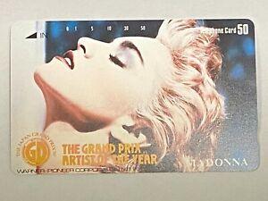 Madonna Japan Phone Card Grand Prix Artist Of The Year 1987 Telephone Promo
