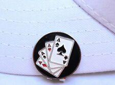 4 Aces Golf Ball Marker - W/Bonus Magnetic Hat Clip
