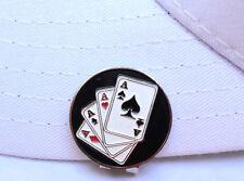 4 Aces Golf Ball Marker - W/Bonus Magnetic Hat Clip