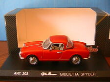 ALFA ROMEO GIULIETTA SPYDER ROUGE WITH HARD TOP DETAILCARS 203 1/43 ROSSO ROT