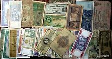 Estate of 120 World Banknotes Many 100 + Year Greek PhLP Russia, Japan Currency