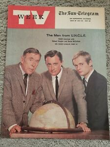 RARE  July 1966  TV WEEK Man from Uncle Cover Sun Telegram Los Angeles Stations