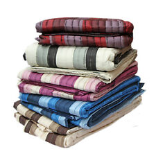 Luxury Quilted Panel Striped Bedspread Throw in 2 sizes & 5 colours