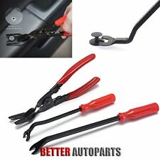 3Pcs Car Door Trim Rivets Clips Pliers & Fastener Remover Puller Tool Kit Set