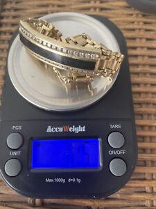 gold bracelet 14k men 1.24 Oz