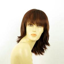 mid length wig for women dark brown copper intense ref: VANILLE 322  PERUK