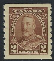 Scott 229: 2c King George V Pictorial Coil (adhesion on back) o/w VF-HR