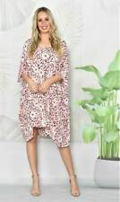 NWT Top Dress V Neck Pink Leopard Floral Plus Sizes L to XXL New Collection