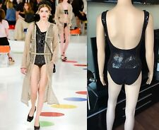 1e674833ac NEW CHANEL RUNWAY SEXY SEQUIN OPEN BACK SWIMSUIT BODYSUIT FR 36 US 4 VERY  RARE!