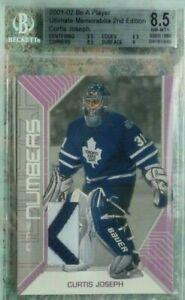 Curtis Joseph 2001-02 BAP Ultimate Memorabilia Game-Used Number /20 Maple Leafs