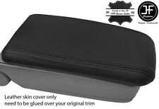 BLACK STITCH REAL LEATHER ARMREST LID COVER FITS SUBARU FORESTER SG9 2006-2008